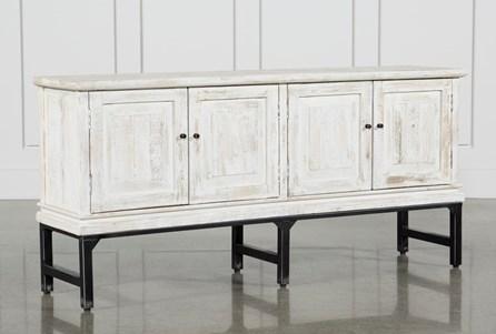 White Wash 4-Door Sideboard
