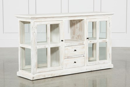 White Wash Double-Sided Cabinet