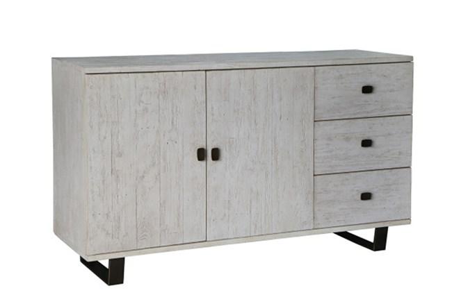 Antique White Distressed 3-Drawer/2-Door Sideboard - 360