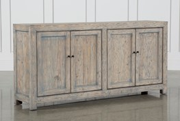 Antique Blue 4-Door Buffet