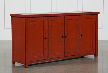 Antique Red 4-Door Sideboard