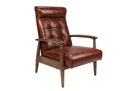 OTB BROWN ACCENT CHAIR