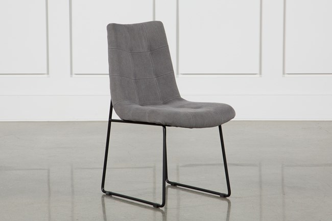 Smoke Grey Side Chair - 360
