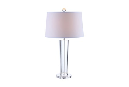 Table Lamp-Crystal Contemporary Column