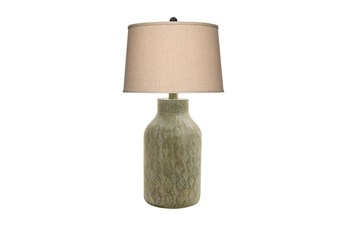 Table Lamp-Green Wash Print