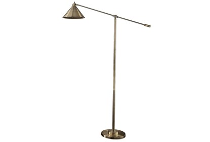 Floor Lamp Brass Metal Shade Living Spaces
