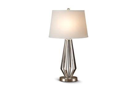 Table Lamp-Nickel Open Geometric