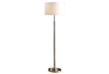 Floor Lamp-Nickel Column