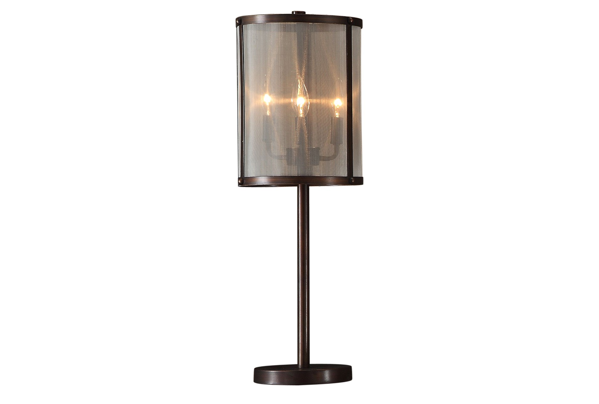 Table lamp wire web silver living spaces table lamp metal mesh shade industrial greentooth Gallery