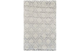 66X102 Rug-Wool And Bamboo Hand Knotted Ice Blue