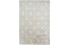 2'x3' Rug-Wool And Bamboo Hand Knotted Ice Blue