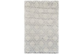 24X36 Rug-Wool And Bamboo Hand Knotted Mushroom