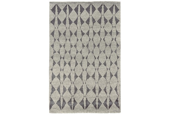 2'x3' Rug-Wool And Bamboo Hand Knotted Mushroom - 360