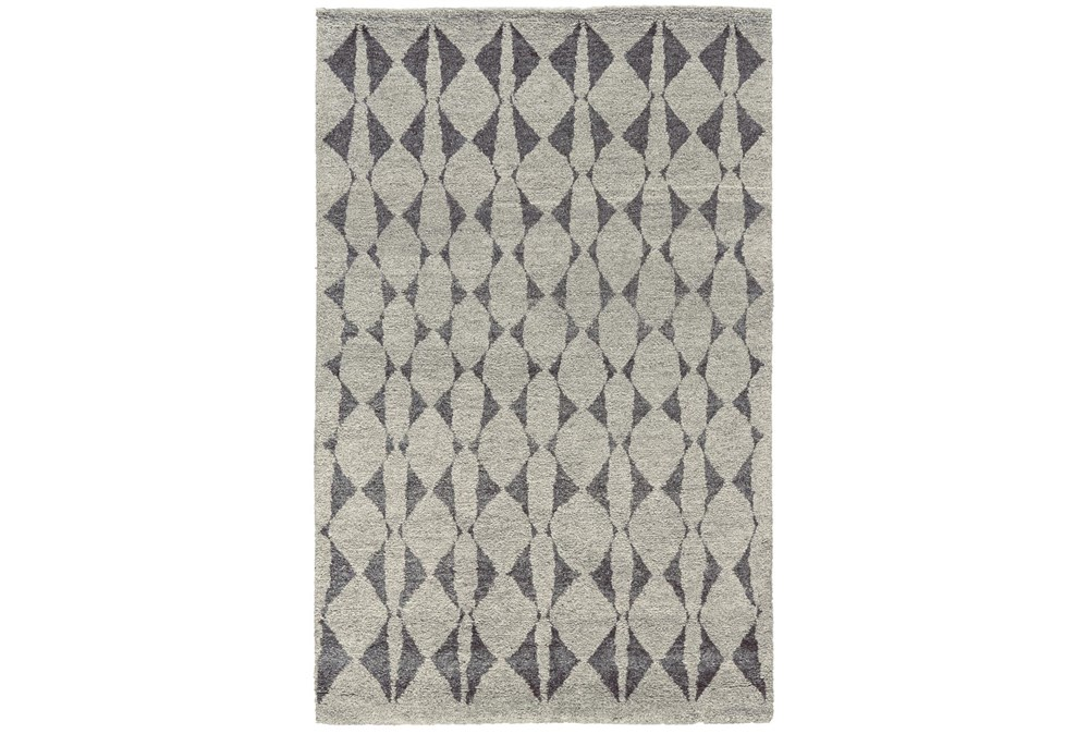 """8'5""""x11'5"""" Rug-Wool And Bamboo Hand Knotted Mushroom"""