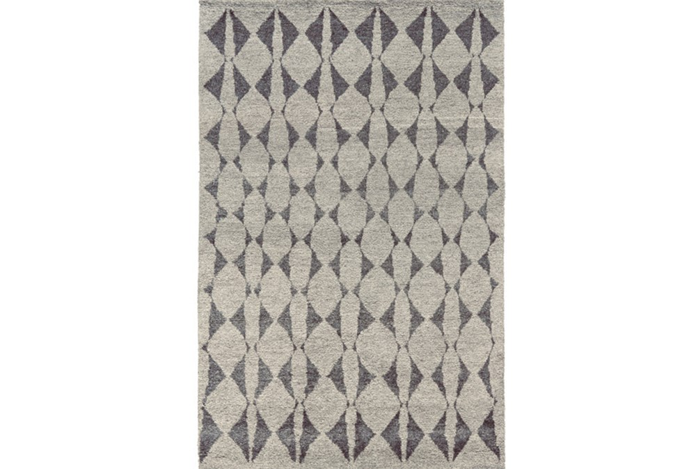 """9'5""""x13'5"""" Rug-Wool And Bamboo Hand Knotted Mushroom"""