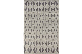 114X162 Rug-Wool And Bamboo Hand Knotted Mushroom
