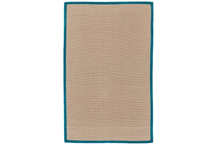24X36 Outdoor Rug-Faye Aqua Border