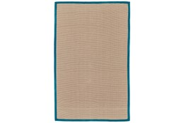 60X96 Outdoor Rug-Faye Aqua Border