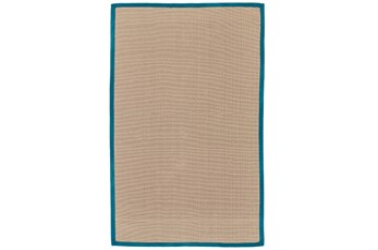 96X120 Outdoor Rug-Faye Aqua Border