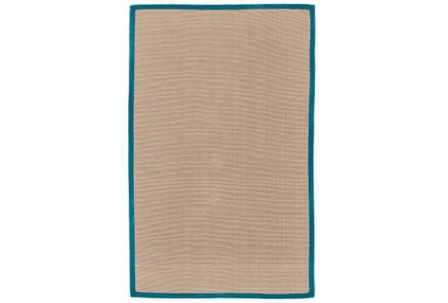 96X120 Outdoor Rug-Faye Aqua Border - 360