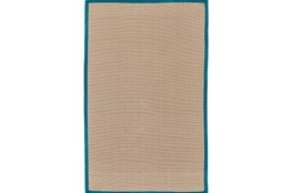 108X144 Outdoor Rug-Faye Aqua Border
