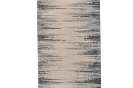 96X132 Rug-Spilt Lines Ivory/Charcoal