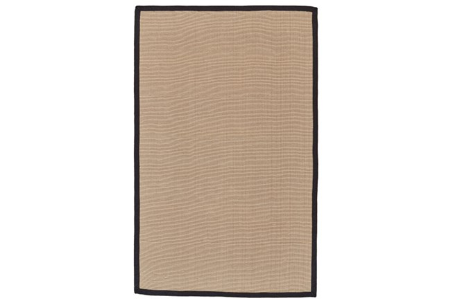 96X120 Outdoor Rug-Faye Black Border - 360