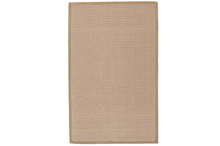108X144 Outdoor Rug-Faye Natural Border