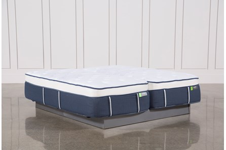 Blue Springs Medium Eastern King Split Mattress Set - Main