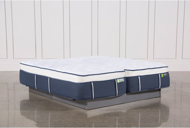 Blue Springs Medium Eastern King Split Mattress Set - 360