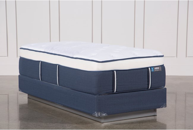 Blue Springs Plush Twin Extra Long Mattress W/Foundation - 360