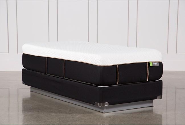 Copper Hybrid Medium Twin Extra Long Mattress W/Foundation - 360