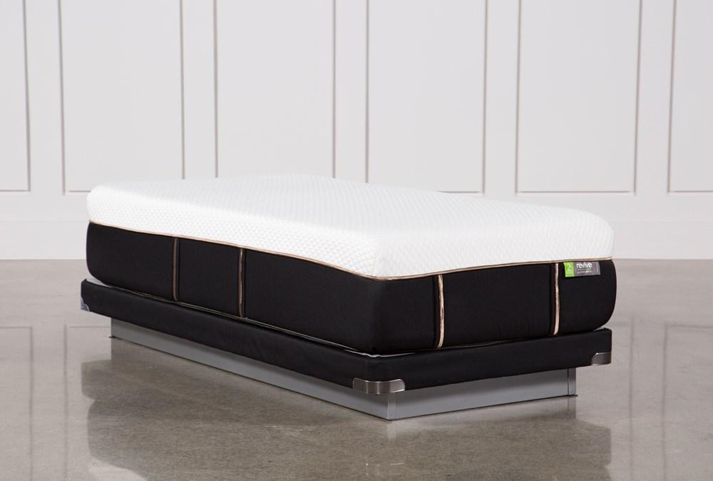 Copper Hybrid Medium Twin Xl Mattress W/Low Profile Foundation