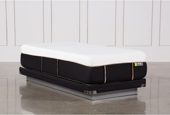 Copper Hybrid Medium Twin Xl Mattress W/Low Profile Foundation - 360