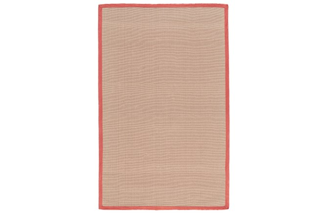 42X66 Outdoor Rug-Faye Persimmon Border - 360