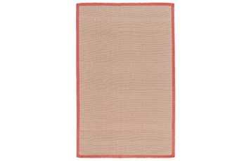 60X96 Outdoor Rug-Faye Persimmon Border