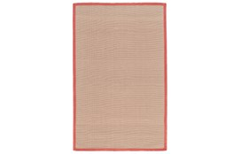 96X120 Outdoor Rug-Faye Persimmon Border
