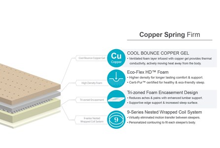 Copper Springs Firm Queen Mattress W/Low Profile Foundation