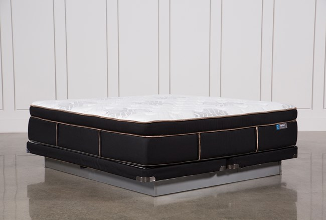 Copper Springs Plush Eastern King Mattress W/Low Profile Foundation - 360