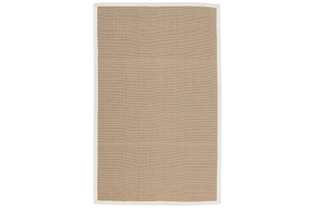 108X144 Outdoor Rug-Faye White Border