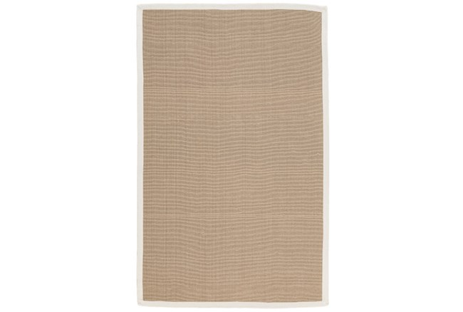 108X144 Outdoor Rug-Faye White Border - 360