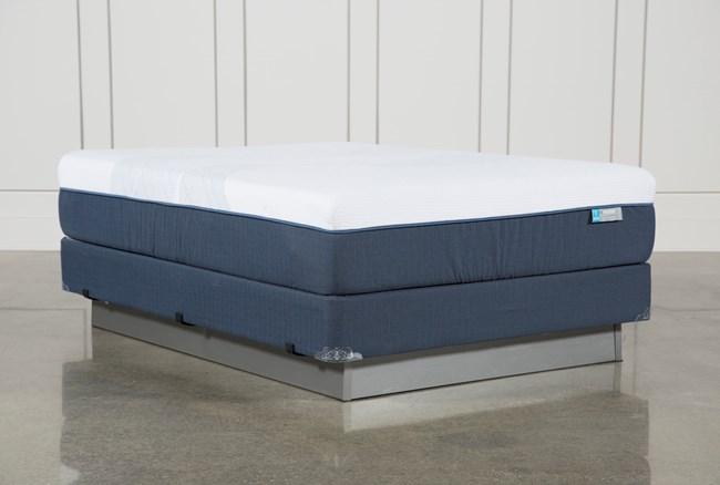 Blue Hybrid Firm Queen Mattress W/Foundation - 360