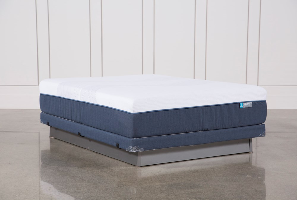 Blue Hybrid Firm Queen Mattress W/Low Profile Foundation