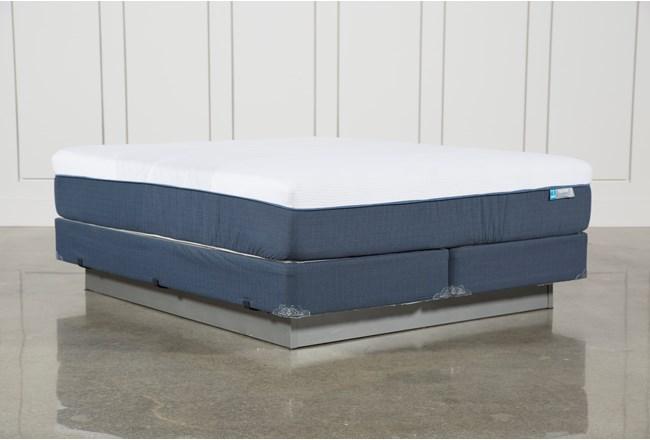 Blue Hybrid Firm California King Mattress W/Foundation - 360