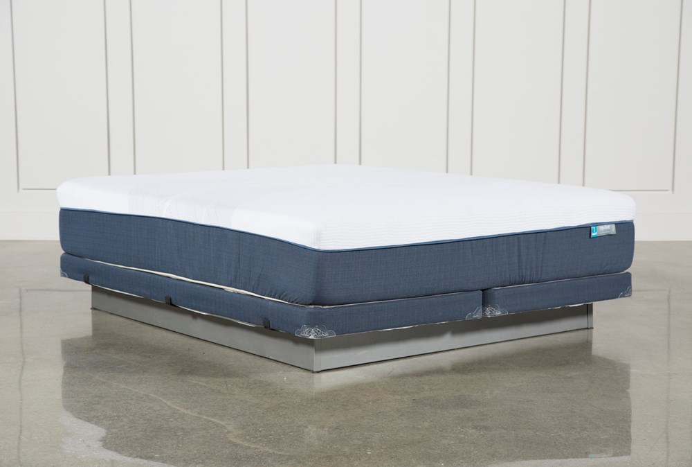 Blue Hybrid Firm Cal King Mattress W/Low Profile Foundation