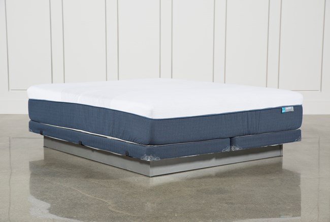Blue Hybrid Firm Cal King Mattress W/Low Profile Foundation - 360