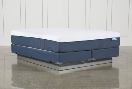 Blue Hybrid Firm Eastern King Mattress W/Foundation
