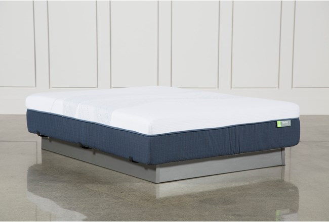 Blue Hybrid Medium Twin Extra Long Mattress - 360