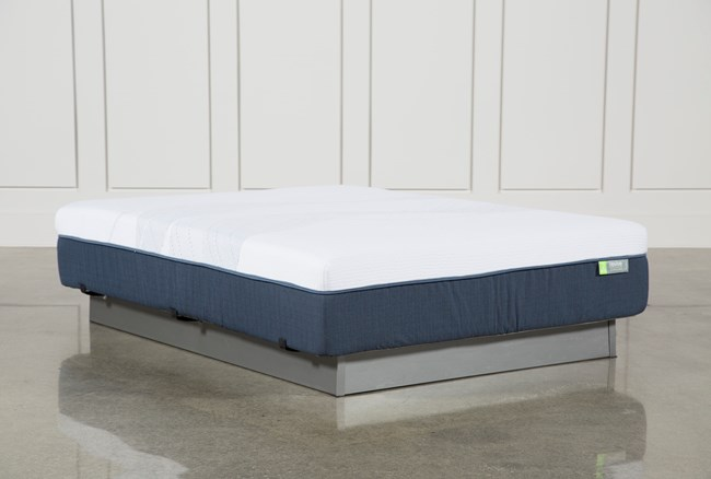 Blue Hybrid Medium Queen Mattress - 360