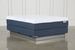Blue Hybrid Medium Queen Mattress W/Foundation